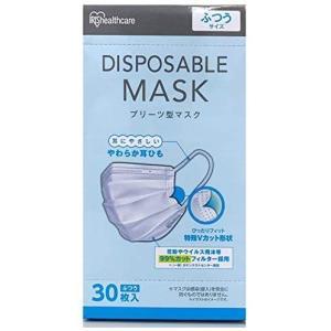 アイリスオーヤマ ディスポーザブル プリーツ マスク ふつうサイズ 30枚入 aiba