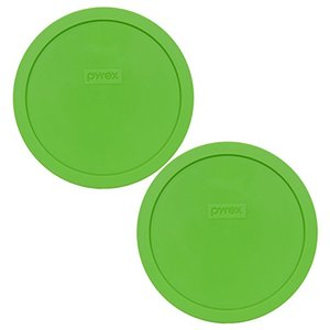 Pyrex 7402-PC Round 6/7 Cup Storage Lid for Glass Bowls (2, Green) by Pyrex|aiba