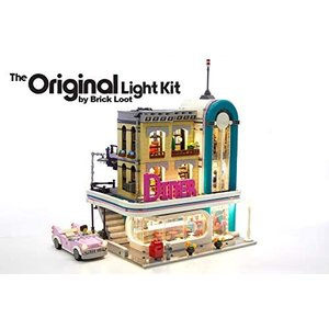Brick Loot Downtown Diner Lighting Kit for YOUR LEGO set 10260 by LEGO SET aiba