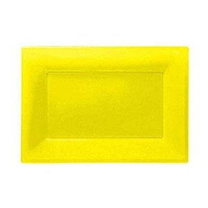 Amscan Plastic 3 Serving Platters, Sunshine Yellow by Amscan aiba