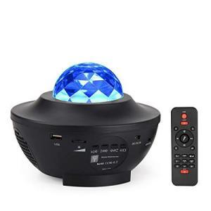 Dalanpa LEDスタープロジェクターライト オーシャンウェーブプロジェクター 常夜灯 音楽スピーカーとリモコン内蔵 寝室装飾 子供のパーティー aiba