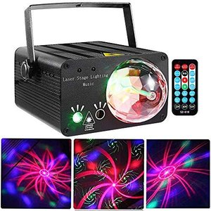 LED Stage Lights RGB Mixed Effects Laser Magic Ball Sound Activated Remote aiba