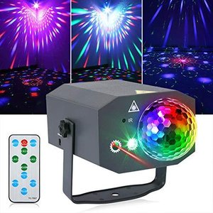 Litake Party Lights + Disco Ball 2 in 1 Dj Disco Stage Lights LED Projector aiba