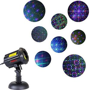 Motion 8 Patterns in 1 LEDMALL RGB Outdoor Garden Laser Christmas Lights wi|aiba