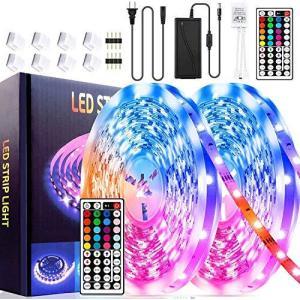 CSNDICE Led Strip Lights 32.8ft RGB Led Room Lights 5050 Led Tape Lights 12 aiba