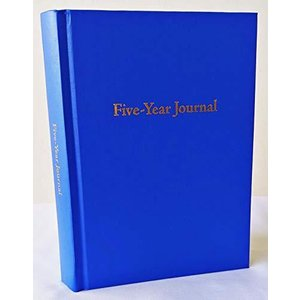 (Sapphire Blue) - Hard Cover 5 Year Journal The Easiest to Use Five Year Jo|aiba