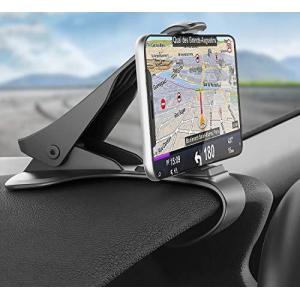 Hzrfun 車用携帯電話ホルダ‐ ダッシュボ‐ドクリップ 滑り止め 丈夫 対応機種: iPhone 12 11 Pro Max XS XR X 8+ aiba