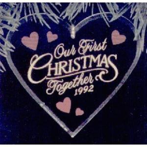 Our First Christmas Together Acrylic Heart 1992 Hallmark Ornament QX3011並行輸 aiba