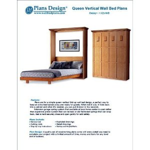 Murphy Mission Style Queen Vertical Wall Bed Woodworking Plans / Patterns,|aiba