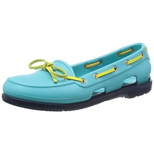 Crocs Womens Beach Line Slip On Boat Shoes, Pool/Navy 11並行輸入品 aiba