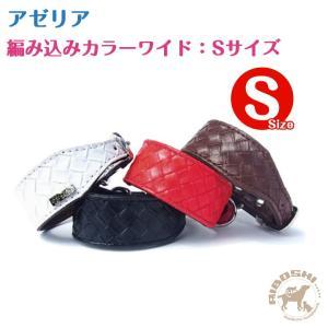 アゼリア AZERIA 編みこみカラーワイド/Sサイズ 小型犬用【首輪/犬】|aiboshi
