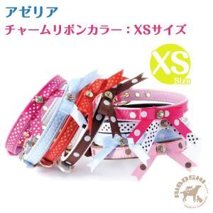アゼリア AZERIA チャームリボンカラー/XSサイズ 超小型犬用【首輪/犬】|aiboshi