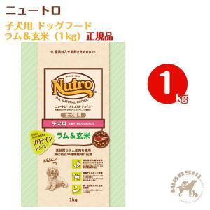 ニュートロ ナチュラルチョイス 子犬用 ラム&玄米 1kg【配送区分:W】