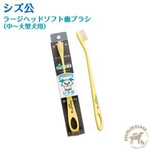 シズ公 ラージヘッドソフト歯ブラシ(中〜大型犬用) 【配送区分:P】 aiboshi