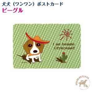 【犬犬(ワンワン)ポストカード】ビーグル【配送区分:P】|aiboshi