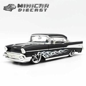 1/24 箱入り ミニカー 1957 CHEVY BELAIR ブラック シェビーベルエア アメ車 JadaToys|aicamu