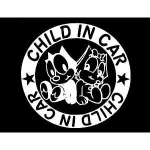 ステッカー FELIX CHILD IN CAR(全3色)車 バイク アメリカン フィリックス グッズ セーフティ デカール キャラクター|aicamu