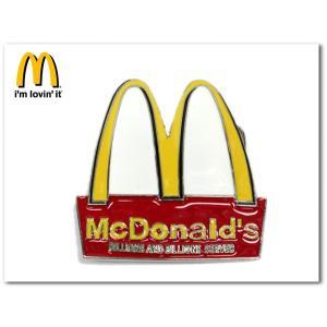 マクドナルド デザインバックル みんな大好き McDonald'sデザインのベルト交換用バックル|aicamu