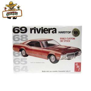 1:25 アメ車 プラモデル '69 RIVIERA HARDTOP/【AMT 6079】1969年式 リビエラ ハードトップ ミニカー|aicamu