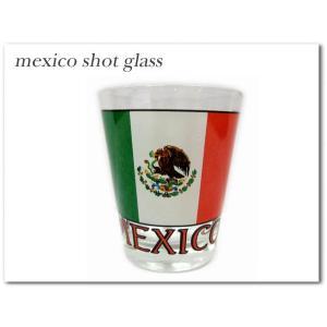 【メキシコ国旗柄 ショットグラス】 mexico shotglassメキシコグッズかっこよくテキーラをショット飲み!! aicamu