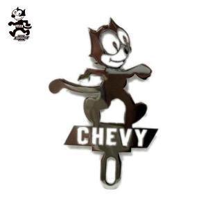 ライセンストッパー -シボレーフィリックス-CHEVY文字 ローライダー ナンバープレートアクセサリー♪CHEVY FELIXカスタムパーツ CAR PLAQUE LOWRIDER|aicamu