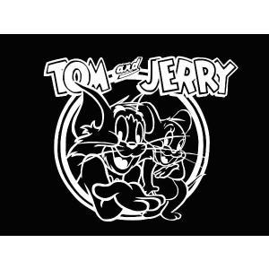 カッティングステッカー トム&ジェリー(全2色)車 バイク アメリカン トムとジェリー tom&jerry デカール キャラクター|aicamu