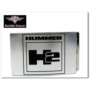 HUMMER H2バックル ハマーデザイン公式ライセンス商品/ベルト交換用|aicamu