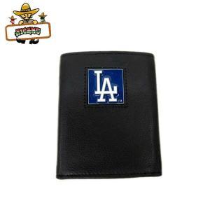 【L.A.DODGERS 3つ折りレザー財布】メジャーリーグ公式ライセンス商品LAドジャース本格レザーウォレット aicamu