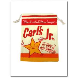 Carl's Jrの巾着袋(Lサイズ) カールスジュニア 給食袋、体操服入れ入園入学準備|aicamu