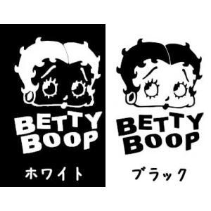 ちびステッカーBETTY BOOP フェイス 2色セット ベティブープ 車 バイク アメリカン デカ...