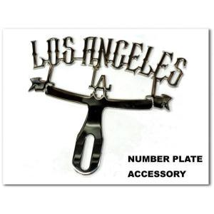 プラーク Los Angeles ローライダーなら絶対にほしいナンバープレートアクセサリー♪ロサンゼルスカスタムパーツCAR PLAQUE LOWRIDER|aicamu
