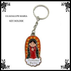 GUADALUPE MARIA かわいらしいぽっちゃりマリア様キーホルダー グアダルーペ マリア様 雑貨 メキシコ グッズ キーリング ネコポス発送OK|aicamu