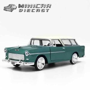 ミニカー 1/24 箱入り 1955 CHEVY BELAIR NOMAD グリーン アメ車 シェビーベルエアノマド|aicamu