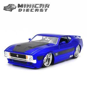 ミニカー 1/24 箱入り 1973 FORD MUSTANG MACH1 イエロー/ブラックホイール アメ車 フォード マスタング|aicamu