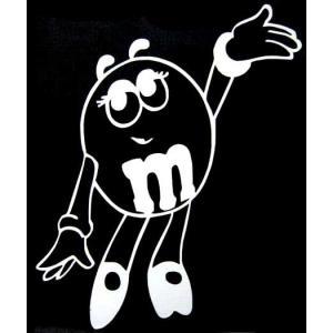 m&m's グッズ カッティングステッカー 女の子 車 バイク|aicamu