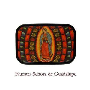メキシコのマリアグアダルーペブラックバックル(ヴィンテージ風) 聖母MEXICOベルト BuckleDown社製|aicamu