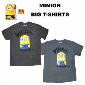 ミニオン ビッグTシャツ(WHAAAA/全2色) M/Lサイズ 大人用メンズMINION半袖 ミニオングッズ|aicamu