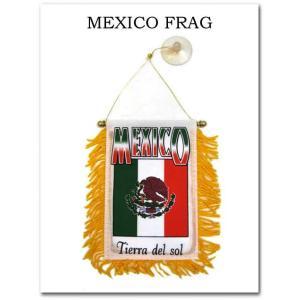 メキシコ国旗ミニバナー(Tierra Del Sol) 吸盤付き MEXICOフラッグ メキシコ 雑貨|aicamu