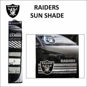 RAIDERS サンシェード カーアクセサリー カーシェード NFLオークランド レイダース|aicamu