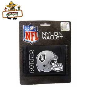 【RAIDERS ナイロン財布】NFL レイダース公式ライセンス商品コンパクトウォレット★ネコポス発送可能★|aicamu