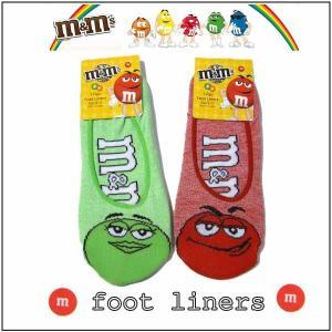 m&m's グッズ ライナーソックス(22〜24cm)全2色 靴下 チョコレート|aicamu