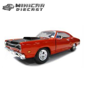 ミニカー 1/24 箱入り 1969 Dodge Coronet Super Bee レッド アメ車 ダッジ コロネット スーパービー|aicamu