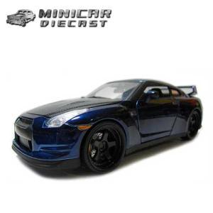 1/24 箱入り ワイルドスピード ミニカー【Brian's Nissan GT-R R35 ネイビ...
