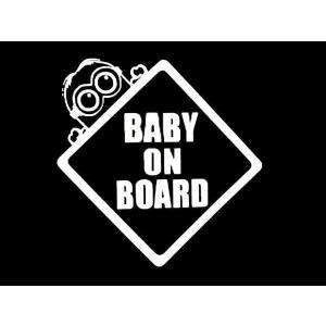 ミニオン グッズ ステッカー BABY ON BOARD(全3色) ミニオンズ 車 セーフティー|aicamu