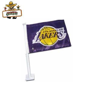 NBA LOS ANGELES LAKERSウィンドウフラッグ(パープル)ロサンゼルスレイカーズの旗で愛車をカスタマイズ カーフラッグ|aicamu