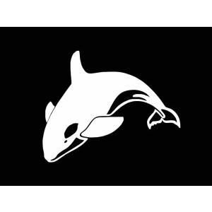 ステッカー オルカ(シャチ)(全6色/左右あり)車 バイク アメリカン サーフハワイデカールカッティング|aicamu