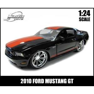 【箱傷み有】ミニカー 1/24 箱入り 2010 FORD MUSTANG GT ブラック アメ車 フォード マスタング|aicamu