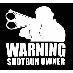 ステッカー WARNING SHOTGUN OWNER(全2色)車 バイク アメリカン デカール シ...