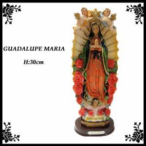 大きめ!マリア様置物(エンジェル) 高さ約30cm メキシコの聖母グアダルーペのインテリア置物guadalupe mariaマリア像|aicamu