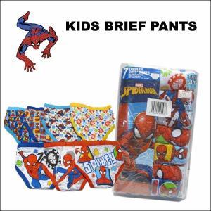 スパイダーマン グッズ #35男の子用ブリーフパンツ7枚セット 2T3T4T 子供用 下着|aicamu